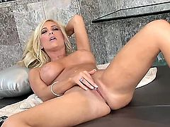 Adorable blonde sex-goddess Tasha Reign has beautiful skin, imposing big boobs and narrow accurate pussy! She is here today to touch your dick with this amazing solo scene!