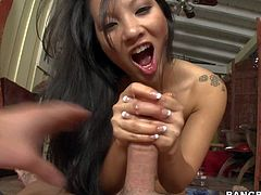 Asian bombshell Asa Akira with unbelievably sexy ass shows off her boobs and butt as she gives tugjob from your point of view. Watch sexy bodied exotic lady jerk man off. Enjoy!