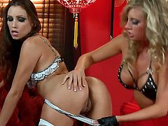 Take a closer look at those whores, their names is Celeste Star and Samantha Saint, cute glamour whores dressed in vintage bra and panties, really thrilling scene, enjoy the show!