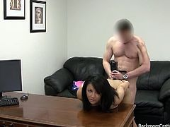 Sweet babe came for job and gets her anal hole popped.Another hot reality show by backroom casting couch.Watch her getting her sweet holes fucked hard and getting hot cumshot in end.