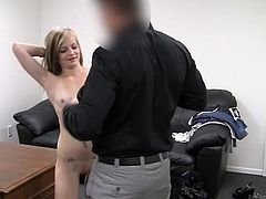 Thin young Riley exposing off for casting