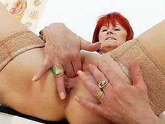 The desirable mommy slut tests her pink crack inside A inquiry chair, than has this piss tunnel of hers dildoed intensely till she has an orgasm.