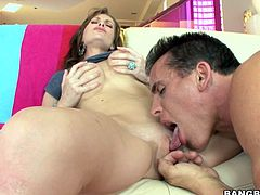 Brandi Edwards is sucking a hard nice dick
