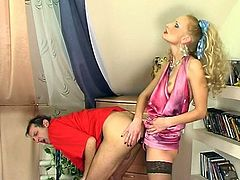 Freaky Strapon porn performance presented by Ladies bang Gents