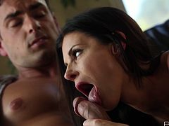 Hot tempered India Summer blows cock and  gets laid