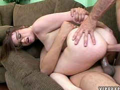 Tatiana Kush sucks two hard pricks and enjoys wild DP