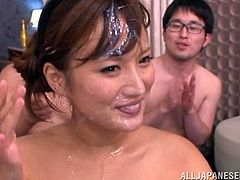 For those who are watching a Japanese orgy for the first time, don't be surprised. Any race can do that, even Asians.