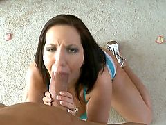Hugecocked man Billy Glide is relaxing with passionate big boobed hottie Kelly Divine. The chick with great juggs and bum is spreading legs wide feeling penis in snatch.