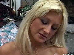 Staci Thorn knows how to give a great handjob. she's applying for a job and if she can jerk well enough she'll get it. She undresses and rubs her big tits and she jerks off this dick. She tugs hard and fast until she gets covered in cum