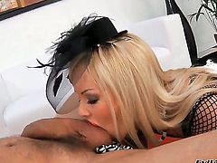 We all know that Lolli Moon is more than ready to gag on almost anything and this time she is sucking Omars dick and gagging on a dildo of a dude in a uniform...