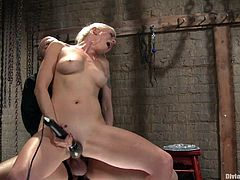 These dudes sure seem to like pain. Watch as this hot divine blonde bitch fucks his ass with a strapon but also treats him to some amazing pleasure.