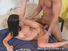 Andy San Dimas and Rocco Reed just started dating and they are already clicking in the bedroom. See them go down on each other and fuck like there is no one else in the world.