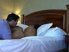 Mischa Brooks gets undressed by Manuel Ferrara that enjoys from the view of her sweet fresh body. Mischa spreads legs then and feels tongue playing with her pussy.