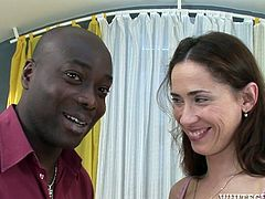 This black dude has no clue about how to make her girlfriend happy. He goes straight for her pussy and that's what she like when she's fucking. A bit later she gives her lover a hot blowjob.