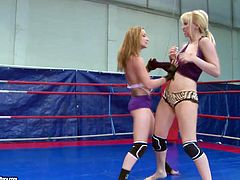 Lusty babe Celine Doll vs horny Aleska Diamond