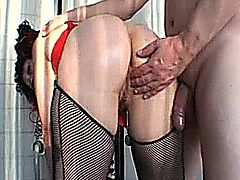 Horny amateur wife is fist fucked in her cavernous cunt till she reaches an explosive orgasm