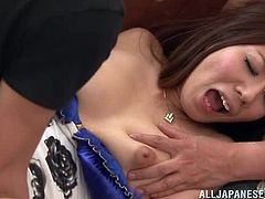 Three guys take girl's clothes off and then start to touch her sexy body. She gets very horny, so she let them fuck her right in a subway train.
