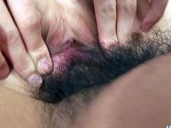 Aroused BF pounds a tasty looking Japanese harlow in lewd red lingerie and stockings in a myriad of styles. First he gives her face sitting, which is later replaced with a poke in missionary and doggy styles in steamy sex video by Jav HD.