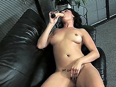 Brunette milf Ava Rose dreams about really hot and passionate fuck today so she gets naked and takes her favorite lover - long dildo! Babe sucks and shoves it in her pussy.