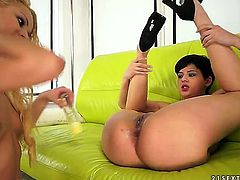 If you are into scissor sisters, you will love this video with gorgeous Chary Kiss and Coco De Mal who are using their long hurricane tongues to get off hard.
