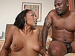 Ebony chick having ass fucked