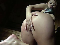Gorgeous Hanna Montada takes pleasure in her deep fisting session