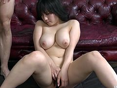 Bosomy AZUSA NAGASAWA gives rapacious tit fuck with oversized boobs