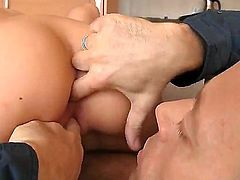 Brunette Angelica Black likes feeling horny stud Rocco Siffred banging her in hardcore