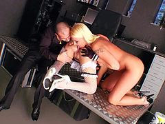 Sexy dressed Lili Tiger gets her sweet ass licked and dildo fucked by Mike Angelo and pretty blonde Amanda Black. Watch them get pleasure in hot scene with lots of ass licking for your viewing pleasure.