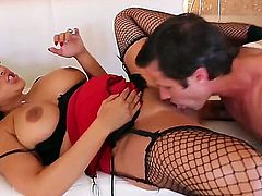 Kiara Mia is hot Latina with huge forms and she is a true fan of blowjob. Today she is enjoying Alans big hard dagger and making him a tittyfuck. Alan must be the luckies man in town