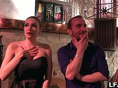 When this mature amateur French gal is approached by a camera crew, she agrees to go to the club with them and bare her big luscious tits and give a blowjob.