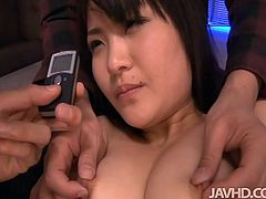 Hot Japanese whore Kanna Harumi reaches orgasms with help of toys