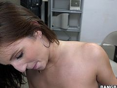She has a tight, shaved vagina and a body that makes men crazy after her. This babe is not only smoking hot she's a lustful whore too and demands semen! Watch her ridding that massive dick with her tight vagina and then kneeling to receive a load on her slutty face. What a cum addicted beautiful whore.