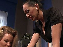 Superb Mandy Bright and naughty Salome in sexy femdom porn session