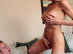 Zealous chick Emma Starr is totally absorbed with riding a dick for orgasm