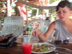 Bella is on her vacation in Thailand and wants to masturbate in various places, because she is nasty slut with ho shame. Moreover, her boyfriend is recording it on camera. Have fun