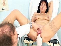 Old Livie hole examination by Erotic kinky gyno doctor