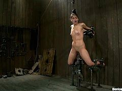 There's going to be extreme bondage and nipple torture in this video with the exotic girl Jada Indica who enjoys and suffers the BDSM.