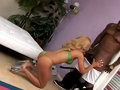 Horny Black couple in hot hardcore video. This slim girl takes her bikini off and then gets her vagina licked. After that she gets fucked nice and deep.