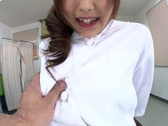 Whorish nurse from Japan Miku Airi wanna be pleased by spoiled doctor