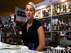 Superb barmaid pussy banged for money