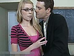 Awesome tits Nicole Ray fucks her teacher to stay out of trouble.