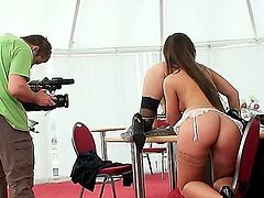 You shouldnt miss this particular action, because Defrancesca Gallardo and Eufrat take part in it. They are both so beautiful tender, that it is impossible to forget about them.