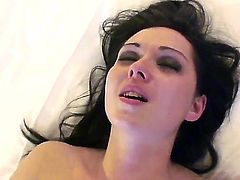 Brunette beauty Angell Summers receives a large cock from dirty hunk Manuel Ferrara