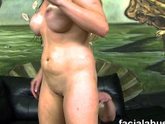 Watch an alluring and intense brunette milf flaunting her hot ass and sexy tits before her ass and pussy gets spectacularly dped into a breathtaking orgasm.