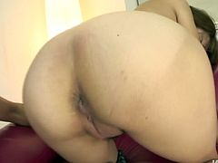 Perverse fucker tongue fuck a soaking twat of skinny Japanese harlow before he gives her a rimjob. Later she inclines to his rod for an oral fuck.