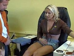 Cheating blonde milf goes with stranger to his place
