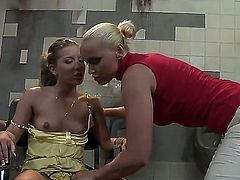 It is the first time when Bianca Arden gets in such an intriguing situation. She is tied to the chair and dominated by the evil blonde bitch Kathia Nobili, that wants to pinch her nipples.