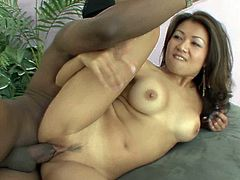 Aroused black fucker rips tight pussy of petite Asian slut in a myriad of styles including sideways and missionary poses in steamy sex clip by All Porn Sites Pass.