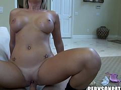 Feeling huge cock in her tight ass makes blondie to moan and have amaizng sensations